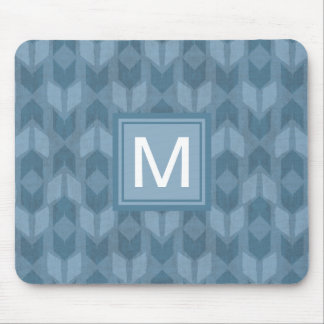 Outdoor Geo Step | Blue Arrow Pattern Mouse Mat