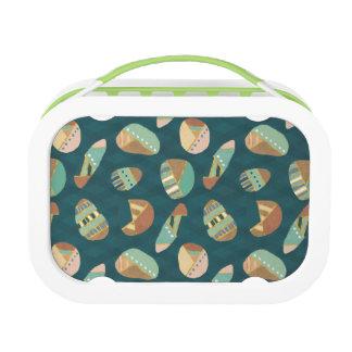 Outdoor Geo Step | Blue Pattern Lunch Box