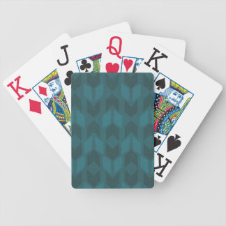 Outdoor Geo Step | Dark Teal Pattern Bicycle Playing Cards