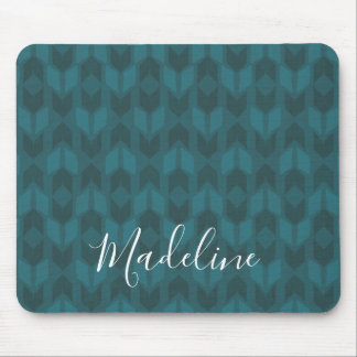 Outdoor Geo Step | Dark Teal Pattern Mouse Mat