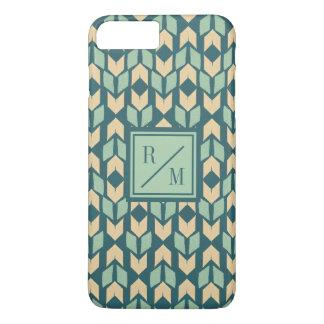 Outdoor Geo Step | Geometric Teal Arrow Pattern iPhone 8 Plus/7 Plus Case