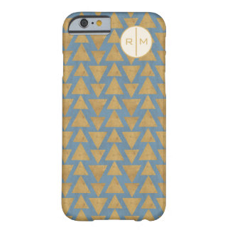 Outdoor Geo Step   Gold & Blue Pattern Barely There iPhone 6 Case