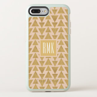 Outdoor Geo Step | Gold & Coral Geometric Pattern OtterBox Symmetry iPhone 8 Plus/7 Plus Case