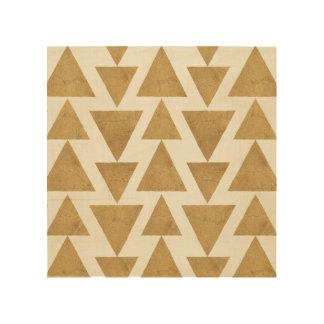 Outdoor Geo Step | Gold Geometric Pattern 4 Wood Wall Decor