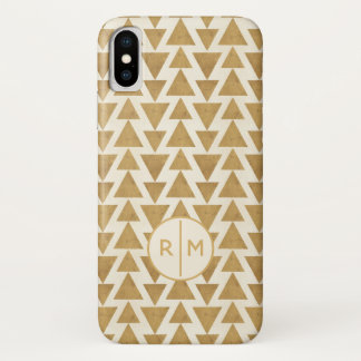 Outdoor Geo Step | Gold Geometric Pattern iPhone X Case