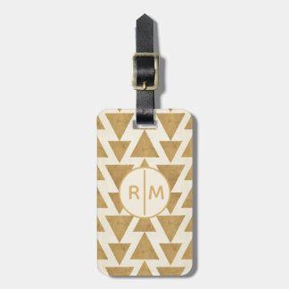Outdoor Geo Step | Gold Geometric Pattern Luggage Tag