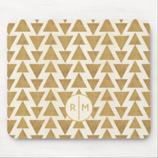 Outdoor Geo Step | Gold Geometric Pattern Mouse Mat