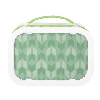 Outdoor Geo Step | Green Arrow Pattern Lunch Box