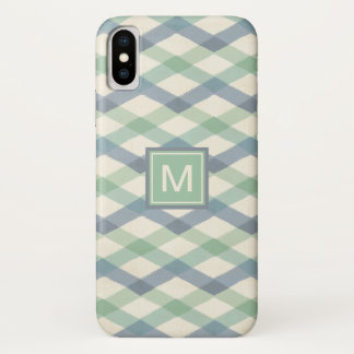 Outdoor Geo Step | Pastel Geometric Pattern iPhone X Case