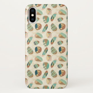 Outdoor Geo Step  | Teal Pattern iPhone X Case