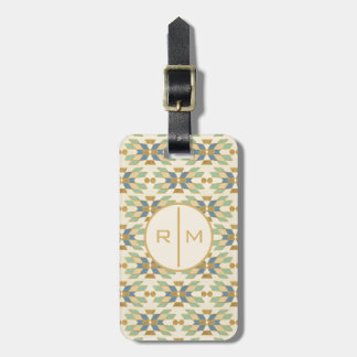 Outdoor Geo Step | Tribal Pattern Luggage Tag