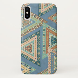 Outdoor Geo X | Blue Tribal Indian Pattern iPhone X Case