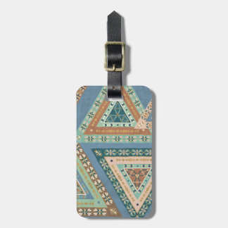 Outdoor Geo X | Blue Tribal Indian Pattern Luggage Tag