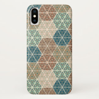 Outdoor Geo XI | Blue & Green Tribal Pattern iPhone X Case