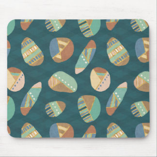 Outdoor Geo XII | Blue & Green Geometric Pattern Mouse Mat
