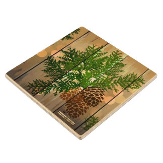 Outdoor Glow Maple Wood Coaster