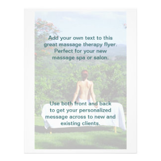 Outdoor Massage Photo Flyer