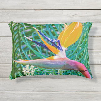 Outdoor Pillow, Bird of Paradise design Outdoor Cushion