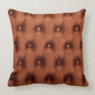 Outdoor Pillow with Golden & Brown capitone