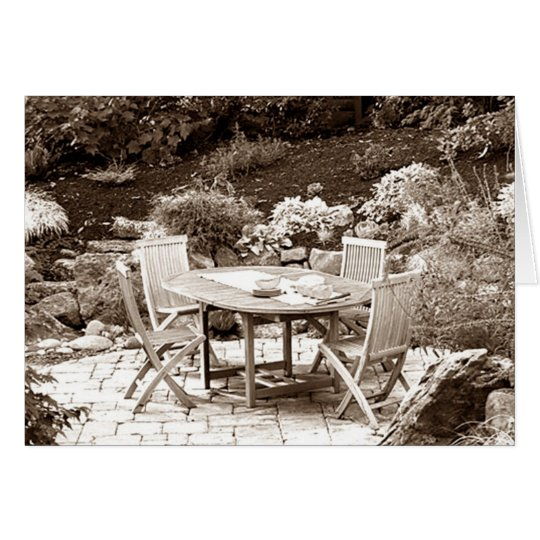 OUTDOOR SUMMER PATIO PHOTO FOR ANY OCCASION CARD