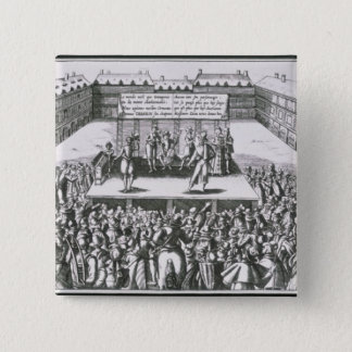 Outdoor Theatrical Performance with Antoine 15 Cm Square Badge