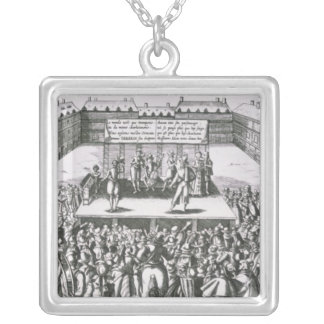 Outdoor Theatrical Performance with Antoine Silver Plated Necklace