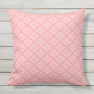 Outdoor Throw Pillow Coral White Design OP1025