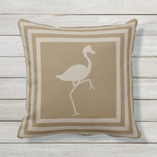 Outdoor Throw Pillow Flamingo Geometric OP1010