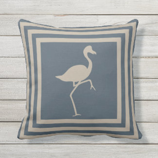 Outdoor Throw Pillow Flamingo Geometric OP1011