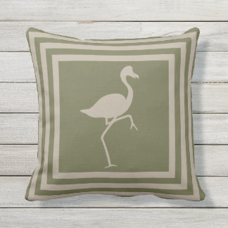 Outdoor Throw Pillow Geometric Flamingo OP1012