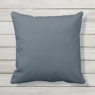 Outdoor Throw Pillow Solid Blue OP1009