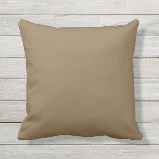 Outdoor Throw Pillow Solid Brown OP1008