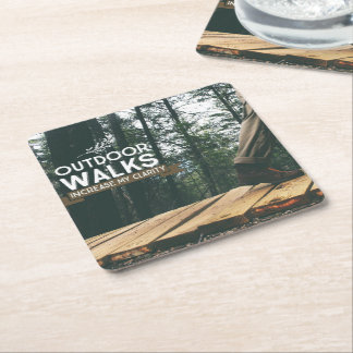 Outdoor Walks Square Paper Coaster
