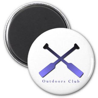 Outdoors Club Design 6 Cm Round Magnet
