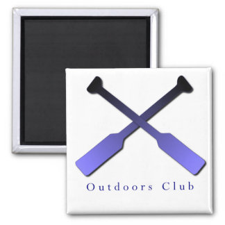 Outdoors Club Design Magnets