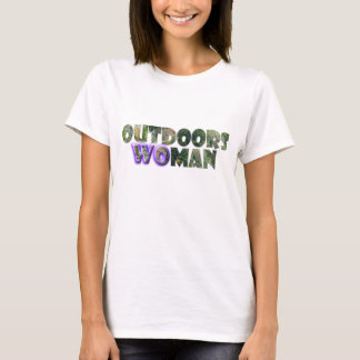 OUTDOORS WOMAN w/Purple Accent T-Shirt