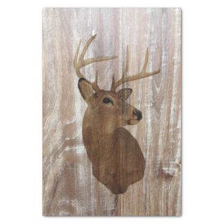 Outdoorsman Western Primitive barn wood deer Tissue Paper