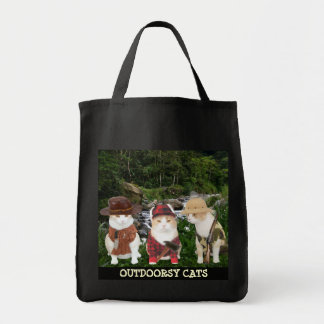 OUTDOORSY CATS GROCERY TOTE BAG