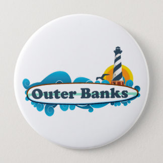 Outer Banks. 10 Cm Round Badge