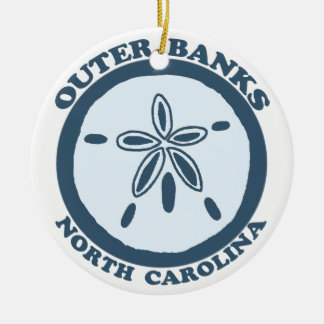 Outer Banks. Round Ceramic Decoration