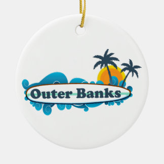 Outer Banks. Double-Sided Ceramic Round Christmas Ornament