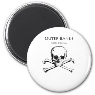 Outer Banks Jolly Roger 6 Cm Round Magnet
