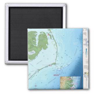 Outer Banks Map Fridge Magnets