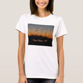 Outer Banks NC Sea Oats and Dunes at Sunset T-Shirt