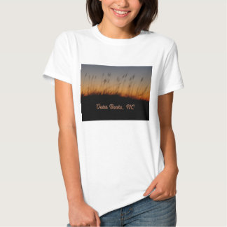 Outer Banks NC Sea Oats and Dunes at Sunset Tee Shirt