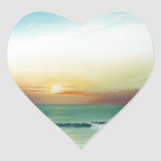 Outer Banks Sunrise Heart Sticker