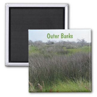 Outer Banks Tidal Salt Marsh Coordinating Items Square Magnet