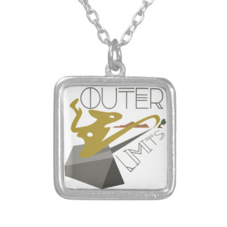 Outer Limits Landscape Silver Plated Necklace