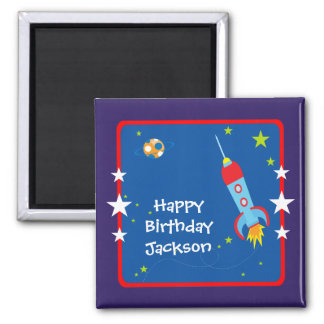 Outer Space 1 Birthday Magnet