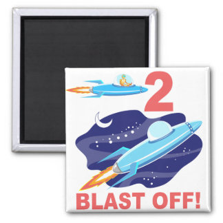 Outer Space 2nd Birthday Fridge Magnet